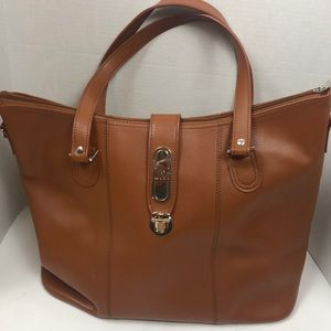 JM Large Leather Tote 19x13x8""